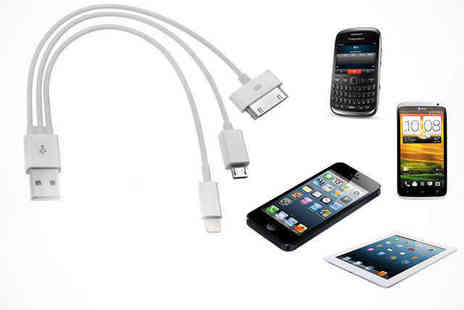 E Smartshop - 3 in 1 Cable for iPhone 4, 5, and Android - Save 0%