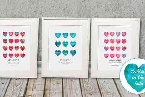 Treasure On The Wall - Personalised Framed Heart Print - Save 60%