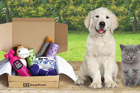 PawPost - PawPost subscription for dogs and cats, first box - Save 48%