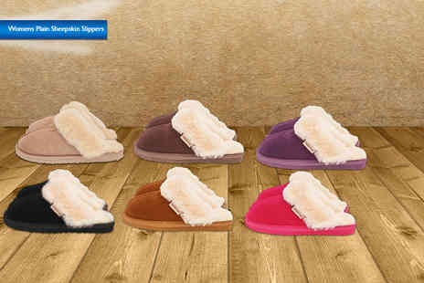Evaniy Accessories - Pair of mens or womens sheepskin slippers - Save 66%