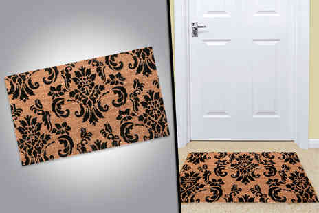 Fancy Suits - Anti slip damask doormat made  - Save 60%