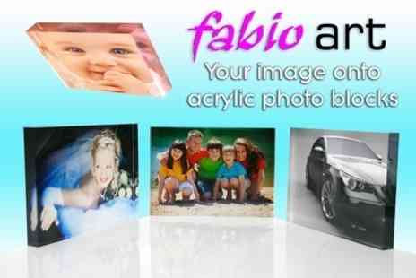 Fabio Art - Any Hi Res Image Printed on 8�x6� 3D Acrylic Block for £12 - Save 74%