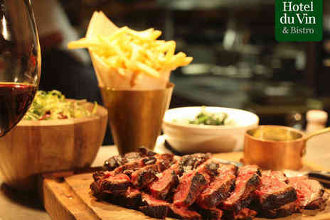 Hotel du Vin & Bistro - Entrecote Steak Meal for Two with a Bottle of Wine to Share - Save 0%