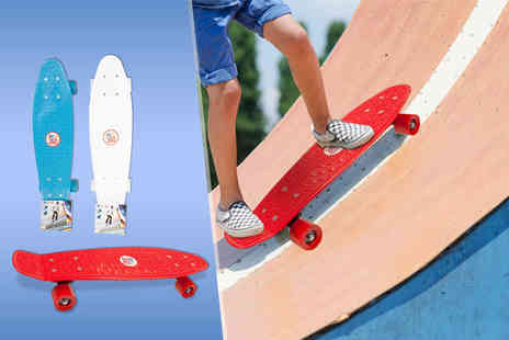 Fancy Suits - Retro style skateboard in a choice of 3 colours - Save 74%