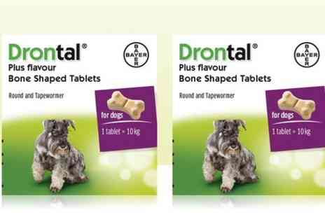 VetePet - Drontal Plus Flavoured Dog Worming Tablet Multi Packs - Save 9%