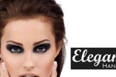 Elegant Hands - An Shellac manicure, eyebrow wax & temporary eyelash extension - Save 67%