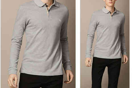 Intriangle Solutions - Burberry Long Sleeve Polo Shirt - Save 61%