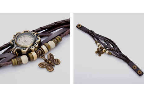Scontodeal - Two Weave Wrap Watches - Save 80%