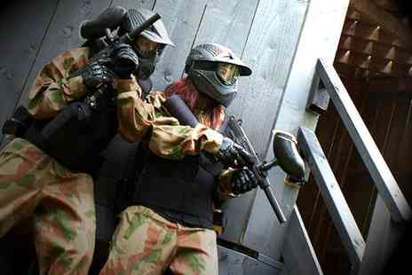 Bedlam Paintball - Paintballing day including 100 paintballs for up to Five - Save 95%