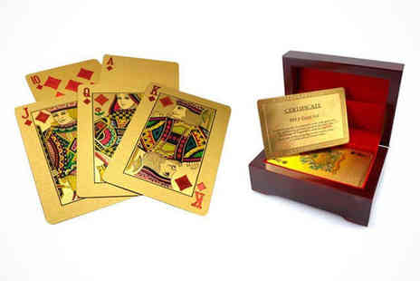 E Smartshop  - 24K Gold Plated Playing Cards - Save 82%