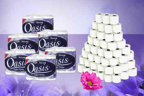 Brand Names GB - 72 Oasis toilet rolls - Save 50%