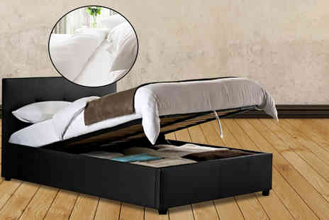 Fishoom - Double ottoman storage bed  - Save 66%