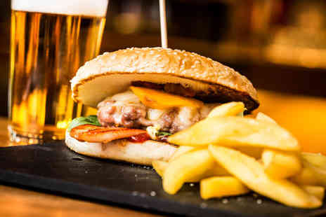 The Ostrich Inn - Burger, sides & glass of wine or beer for one - Save 57%