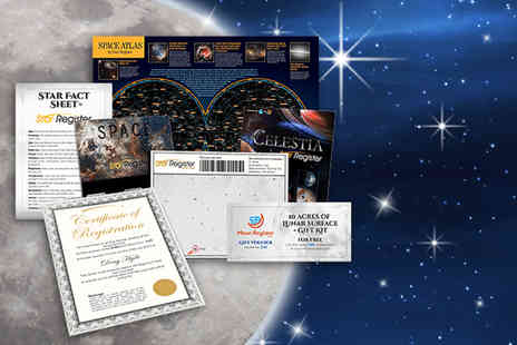 Star Register - Name a star gift set including constellation map - Save 60%