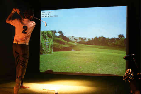 Golf Bar Leeds - Golf Simulator Experience with Pizza - Save 68%