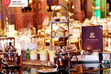 Criterion Restaurant - Afternoon Tea with a Champagne Cocktail for Two  - Save 37%