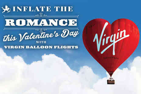 Virgin Balloon Flights  - A 7 Day Anytime National Plus Virgin Hot Air Balloon Flight for Two People with Champagne - Save 50%