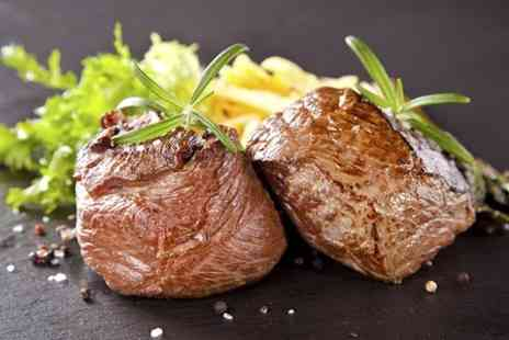 The Canopy Restaurant- Hot Stone Steak Meal With Wine For Two - Save 44%