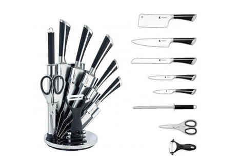 Brainify - Eight Piece Knife Set with Stand & Peeler - Save 82%