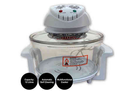 Etail - Sherwood Home 1400W Self Cleaning Halogen Oven - Save 76%