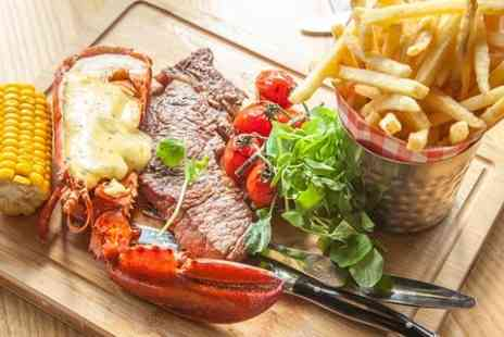 28 West Bar & Grill - Steak and Lobster For Two  - Save 52%