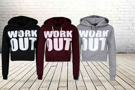 Something About Fashion - Pair of drawstring workout joggers OR a cropped workout hoody - Save 47%