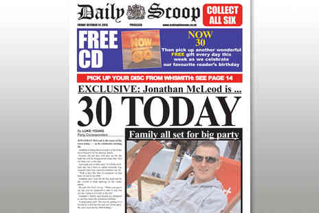Scooped - Personalised Newspaper Cover - Save 63%