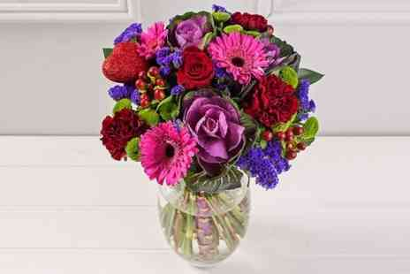 Debenhams Flowers - Valentines Day Bouquet With Personalised Message  - Save 50%