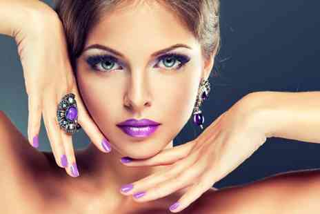 Talking Heads - Professional Gelish manicure, eyebrow shape and tint - Save 56%