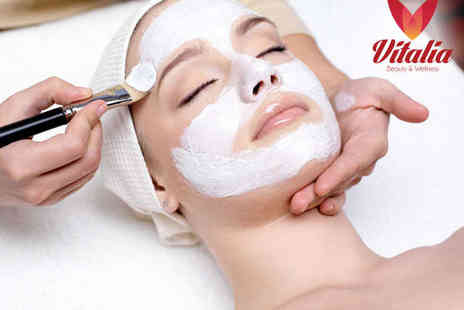 Vitalia Beauty & Wellness - 30 Minute Facial and 30 Minute Back Scrub - Save 50%