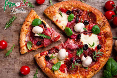 Amore DItalia - Pizza or Pasta Meal for Two  - Save 61%