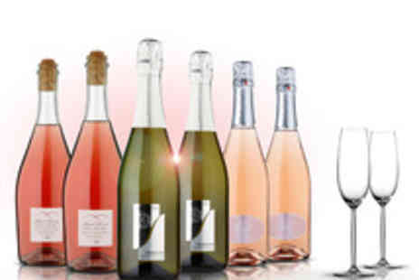 Naked Wines - Naked Wines Valentines 6 Bottle Sparkling Selection with Champagne Flutes - Save 57%