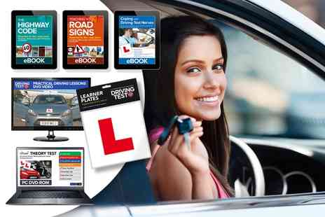 eOutlet - Ultimate Learner Driver Kit including theory test, highway code, L plates & more - Save 76%