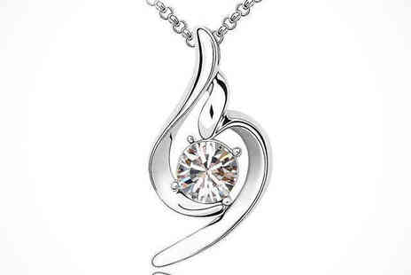 Crystal Swirl Pendant - One in a Choice of Three Designs Crystal Swirl Pendant, Delivery Included - Save 79%