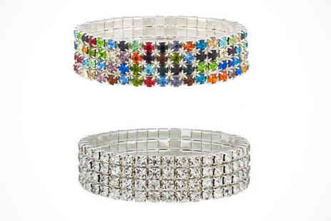 lsuk your ideal gift - Four Row Tennis Bracelet Delivery Included - Save 89%
