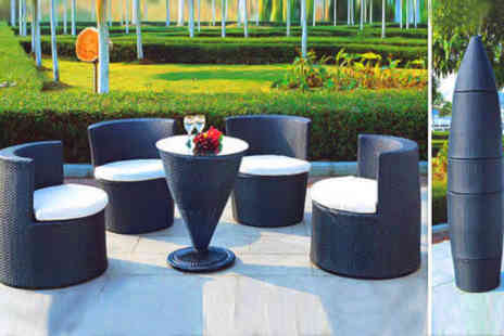 City Living Furniture - £295 for the Torpedo rattan style garden set  worth £1,078  - Save 73%