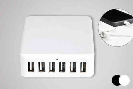 Zip Gadgets - Six Port USB Charger Station - Save 71%