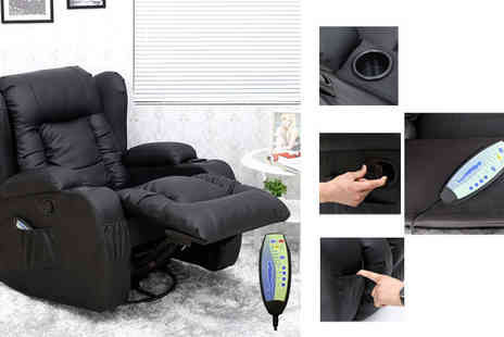 Sonic Online - Massage Heated Recliner Chair - Save 58%