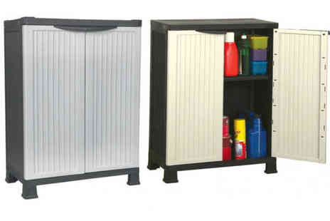 Turborevs - Plastic Storage Cabinet with Shelves - Save 33%