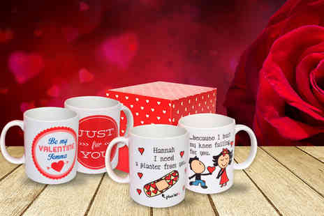 Colour My Wall - Personalised Valentines mug  - Save 45%