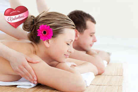 J2A - Three hour Valentines pamper package for Two including five treatments, Prosecco and chocolates - Save 79%