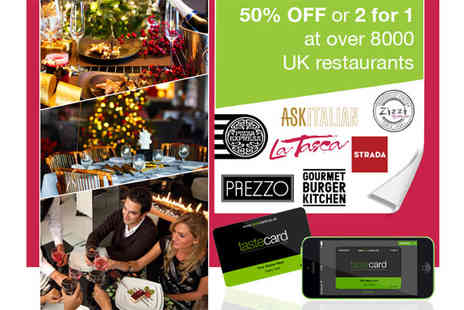 Taste Marketing. - 12 Month Tastecard Membership Perfect Gift for Christmas - Save 54%