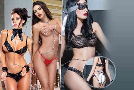Risque Intentions -  Choice of 3 piece lingerie set  - Save 83%