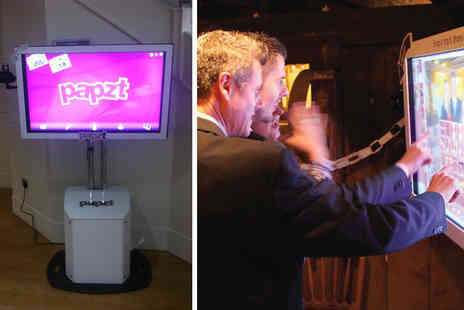 Papzt - Four hours of interactive photobooth hire including unlimited prints  - Save 67%