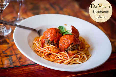 Da Vincis - Pizza or Pasta with a Glass of Wine for Two  - Save 56%
