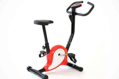 Games&Fitness - Vitesse Turbo Exercise Bike in a Choice of Red, Black, or Blue, Free Delivery - Save 55%