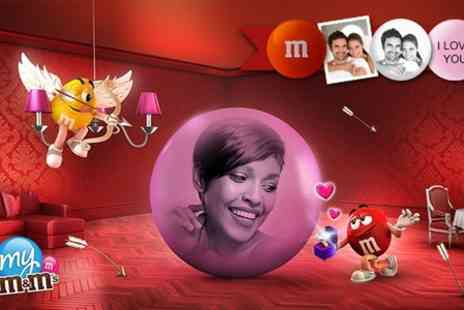 My M&Ms - £15 Voucher for Personalised My M&Ms For Valentines Day   - Save 77%