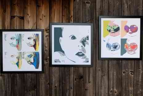 Mezoo - Personalised Pop Art Canvas Print in Choice of Styles  - Save 91%