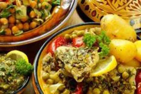 Maison Touareg - Two course Moroccan dinner for two including a starter, main and a glass of wine - Save 62%