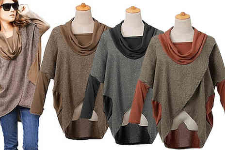 Little Secret Boutique - Ditch the poncho for the Layered Slouchy Jumper - Save 65%